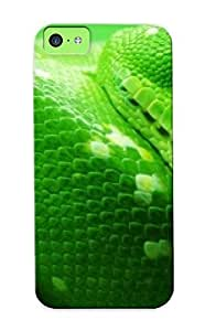 Inthebeauty FQD754PztMu Case For Iphone 5c With Nice Green Snake Appearance