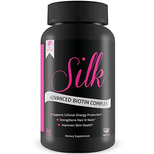 Silk Advanced Biotin Complex- Promotes Stronger, Longer, Hair-Healthier Skin- Ultimate Nail Strength ()
