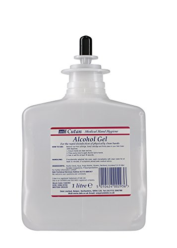 Cutan DUCAG392 Gel Hand Sanitiser Cartridge Refill, 1 Litre, Clear DEB LIMITED