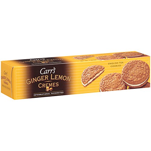 Carr's English Tea Cookies, Ginger Lemon Cremes, 3-Count, 7.05-Ounce Package