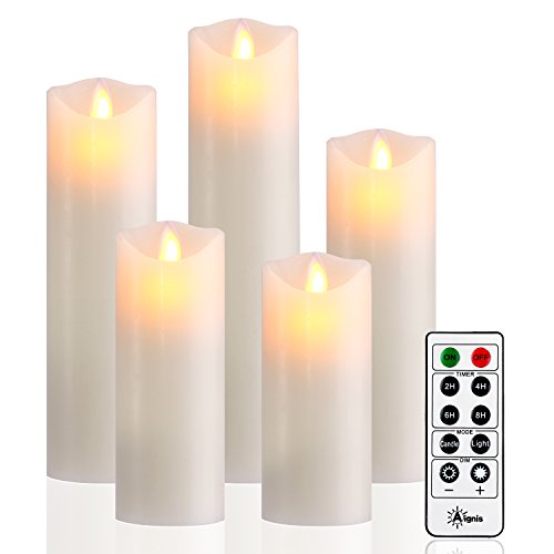 Flameless Candles Realistic Moving Battery Candles Set of 5 (H5