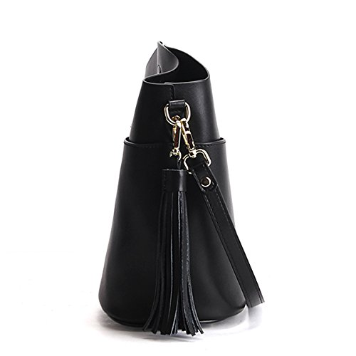 M169 Dissa Women Bag Leather Fashion Handbag Black Design Body Elegant Shoulder LF Cross rrEqPw5