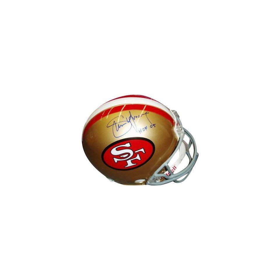 Steve Young San Francisco 49ers Autographed Authentic ProLine Helmet with HOF 05 Inscription