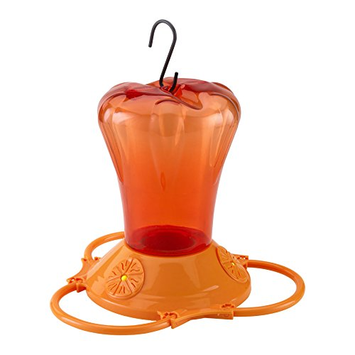 More Birds Oriole Feeder, Three Feeding Ports, Orange, 34-Ounce Capacity