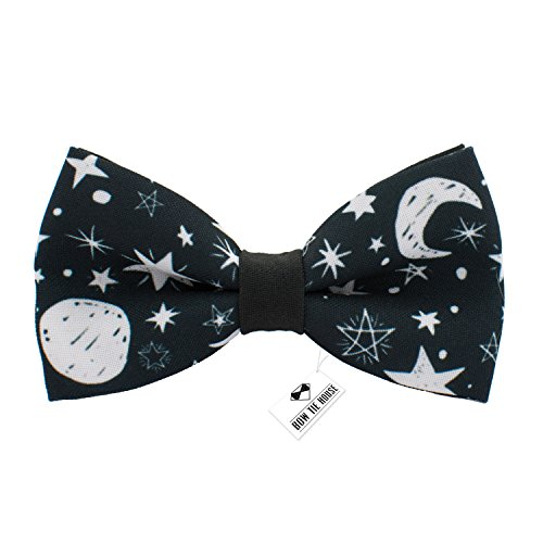Bow Tie House Night Sky bow tie with moon and stars pre-tied unisex pattern