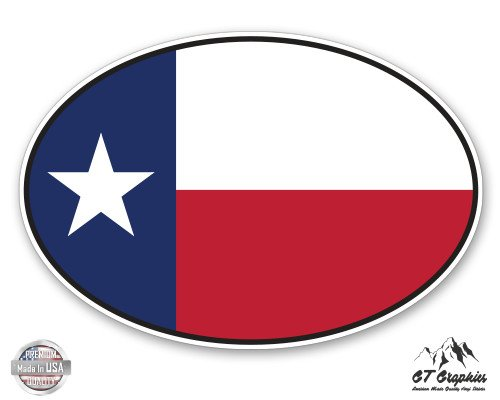Texas State Flag Oval - 3