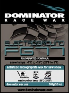 DOMINATOR MICROGRAPHITE-FLUORINATED HOT WAXES: ANTISTAITC FOR NEW SNOW, COLD