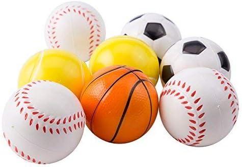 Mseeur 12 Bolas de Espuma Suave para Deportes para niños, 6,35 cm ...