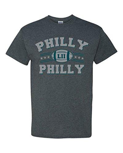 Philly Philly Philadelphia Football DT Adult T-Shirt Tee (Small, Dark Heather) ()