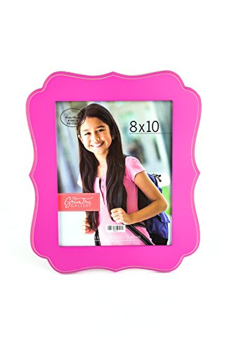 Green Tree Gallery Large Quatrefoil Photo Frame, Hot Pink, MDF, for 8 x 10 inch Picture