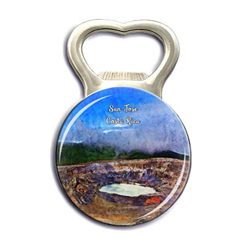 Poas Volcano San Jose Costa Rica Refrigerator Magnet Strong Bottle Opener Fridge Magnet Stickers Crystal Glass City Tourist Souvenirs Kitchen Whiteboard