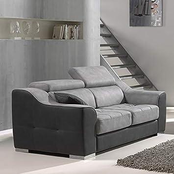 NOUVOMEBLE - Sofá de 2 plazas, Relax eléctrico, Color Gris ...