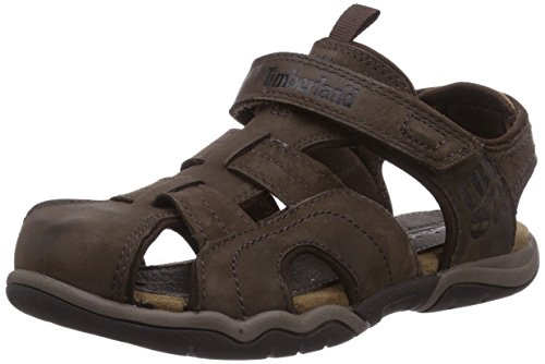 Leather Bluff (Timberland Oak Bluffs FM Dress Sandal (Little Kid),Dark Brown,3 M US Little Kid)