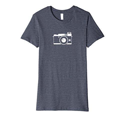 Womens Retro Camera Icon Premium Photography T-Shirt XL Heather Blue