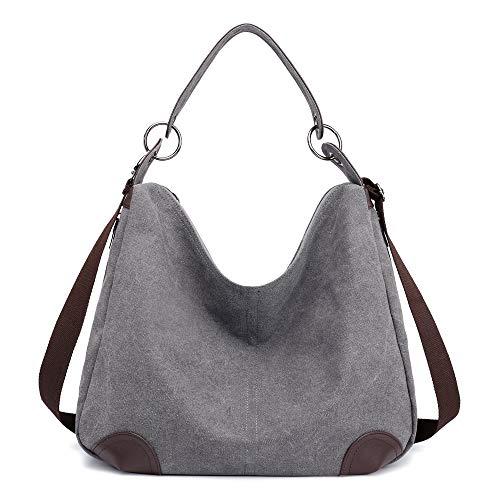 Canvas Hobo Bags for Women, Crossbody Large-capacity Handbags Work Travel Weekender Shoulder Bags