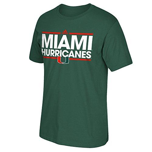 NCAA Miami Hurricanes Men's Dassler Go-To Short Sleeve Tee, Medium, Dark Green
