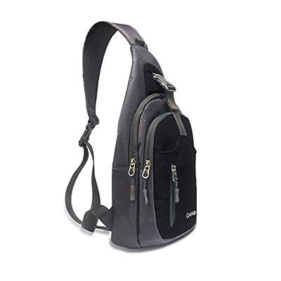 CARQI Sling Bag Waterproof Shoulder Backpack Crossbody Purse for Hiking Camping Men and Women