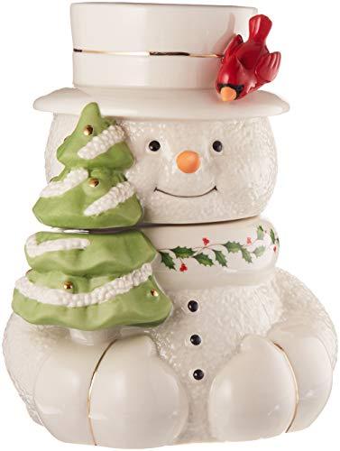 (Lenox 879208 Happy Hollydays Cookie Jar, Multicolor)