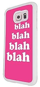 748 - Blah Blah Blah PinkDesign For Samsung Galaxy S6 i9700 Fashion Trend CASE Back COVER Plastic&Thin Metal