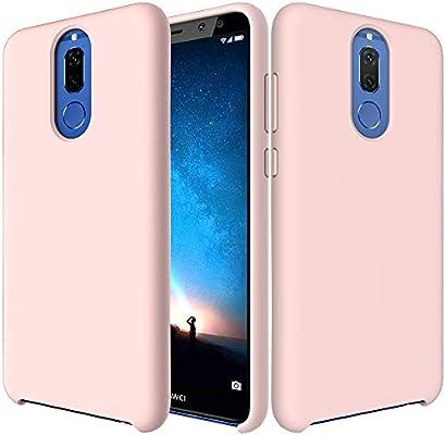 CoverTpu Funda Huawei Mate 10 Lite Silicona, Rosa Funda Líquido de ...
