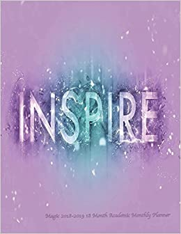 inspire magic month academic monthly planner