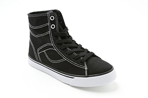 Pastry High Tops - Pastry Cassatta Stretch Canvas Dance Sneakers, Black/White, Youth/Size 1