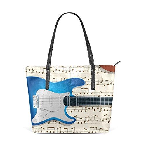 De Hombro Abstracta Bennigiry Grandes Mujeres Bolso Del Bolsas Patrón Observa Y Asa De Música Guitarras Las Superior Mano H0wS0OIq