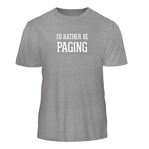 (Tracy Gifts I'd Rather Be Paging - Nice Men's Short Sleeve T-Shirt, Heather,)