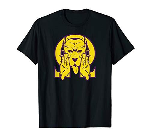 (Mens Omega Bulldog Purple Gold Que Atomic Dog Psi Phi T-Shirt 2)