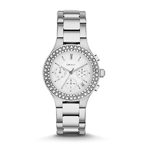 DKNY Chambers Silver-Tone Stainless Steel Chronograph Women's watch #NY2258