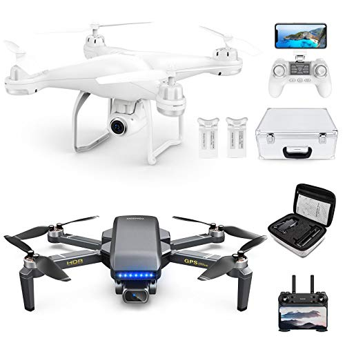 Drone with EIS 4K Camera for Adults, GPS FPV Drone with 2K Live Video for Beginners