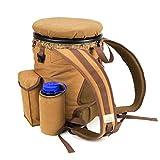 Peregrine Feild Gear PFG-VBP3B-BRN Venture Hunting Bucket Backpack Combo, Brown Canvas