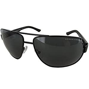 A|X Armani Exchange Men's AX2012S Rectangular Metal Sunglasses
