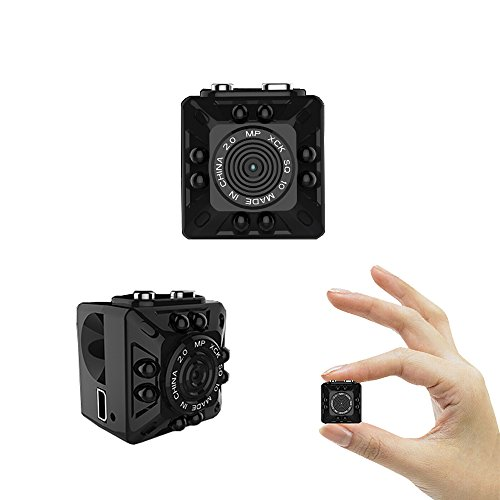 Cainda Super Mini Spy Camera Full HD 1080P with Night Vision and Motion Detection, Super Video Recorder Small Camcorder Sports Camera, Hidden Security Camera for Home and Office Surveillance