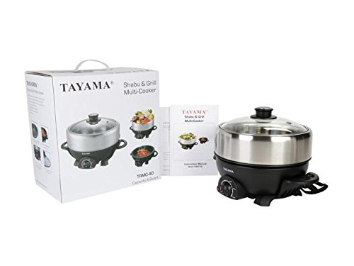 TRMC-40 Shabu and Grill Multi-Cooker, 4 quart, Black by TAYAMA (Image #10)