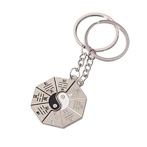 Meilleur Amis Yin Yang Porte-clé s pour Amis dans Amulette Unbekannt