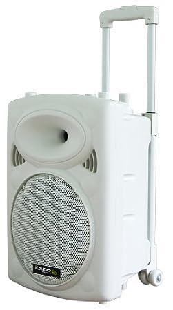Ibiza PORT10VHF-BT-WH Enceinte portable 250 Watts Blanche Lotronic Haut-parleurs/Full-Range
