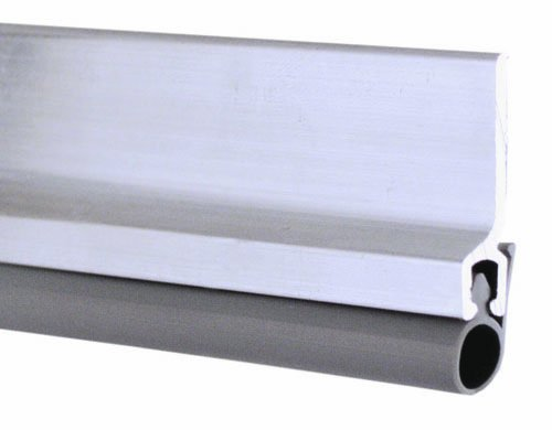 Pemko Standard Perimeter Gasketing, Clear Anodized Aluminum with Silicone Insert, 84'' L x 0.25'' W x 1.125'' H by Pemko