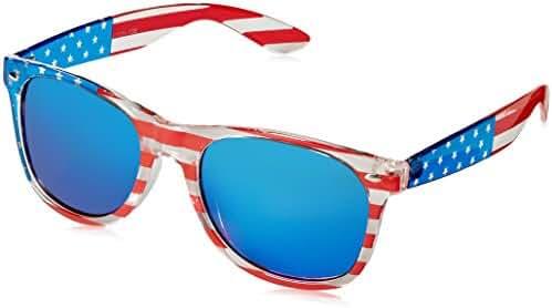 V.W.E. Classic American Patriot Flag Mirror Sunglasses USA