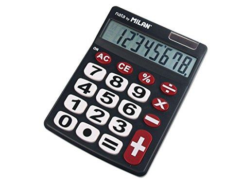 Blister calculadora 8 dígitos teclas grandes Milan M151708BL