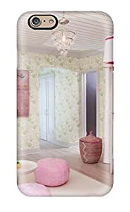 Premium Tpu Girl8217s Nursery With White Crib Shades Of Dark And Light Pink And Green Floral Walls Cover Skin For Iphone 6