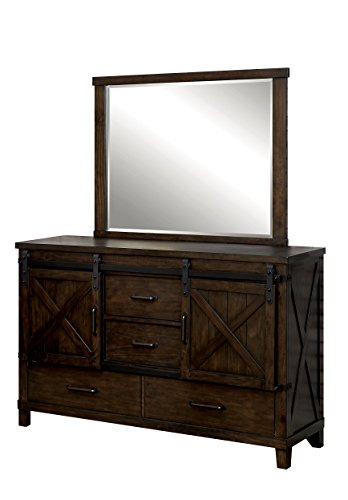 Wood Dresser N Mirror (HOMES: Inside + Out IDF-7734-DM Lenso Dresser and Mirror Rustic)