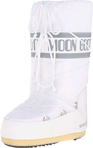 Teknica Unisex Moon Nylon Winter Fashion Boot, White, 39-...