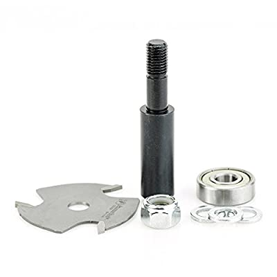Amana Tool 53400-1 Slotting Cutter Assembly 3 Wing x 1-7/8 D x 1/16 CH x 1/2 Inch SHK Router Bit