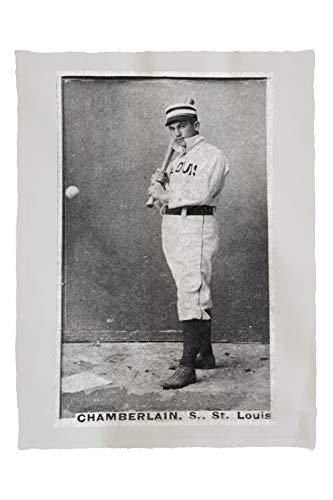 Lantern Press St. Louis Browns - Icebox Chamberlain - Baseball Card 23079 (60x80 Poly Fleece Thick Plush Blanket)