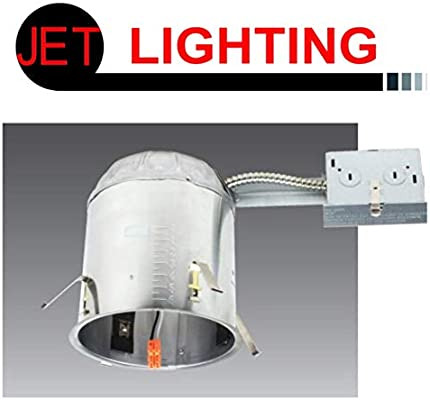buy online f79f8 70168 JET LIGHTING 6 Inch Remodel LED Recessed Lighting Housing, Air Tight, IC  Rated, UL Listed, Tittle 24 Certified, Housing for Retrofit Downlight, 120V  ...