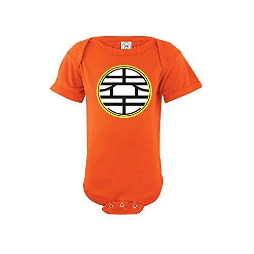 Goku Dragon Ball Baby Onesie Orange Design 12-Months Orange Onesie Bodysuits (Goku Children)