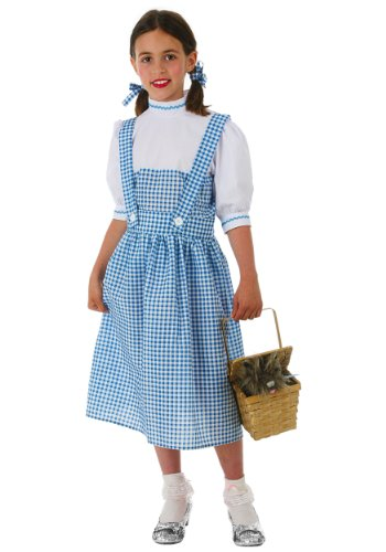 [Big Girls' Dorothy Dress Costume Large] (Dorothy Kid Costumes)