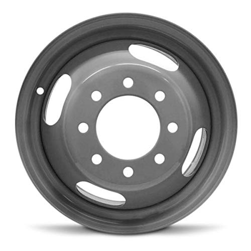 Road Ready Car Wheel For 2003-2015 Chevrolet Express 3500 GMC Savana 3500 2001-2007 Chevrolet Silverado 3500 GMC Sierra 3500 16 Inch 8 Lug Gray Steel Rim Fits R16 Tire - Exact OEM Replacement - Full-S