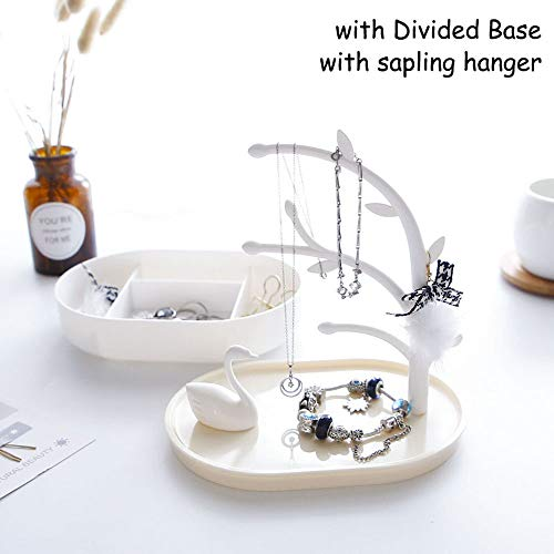 (2019 Desktop Organizer Swan Tray Earring Necklace Ring Small Jewelry Organizer Hanger Bathroom Bath Compartment Organizer with Lid Cube Box Container for Nightstand Over The Door Organizer Toiletry Or)